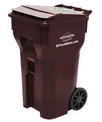 64 gallon wheeled trash bin