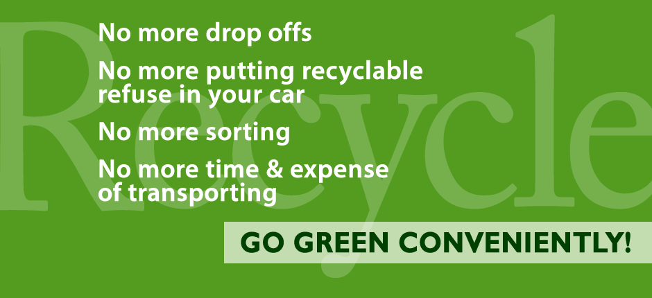 Brazos Valley Trash Valet Recycling Services Banner 4