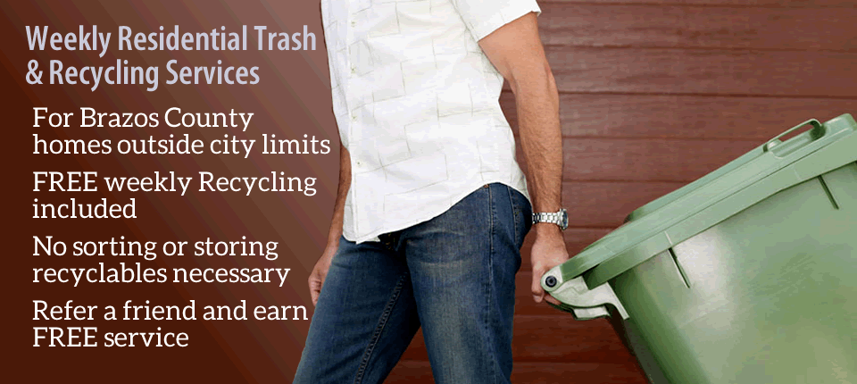 Brazos Valley Trash Valet Recycling Services Banner 5