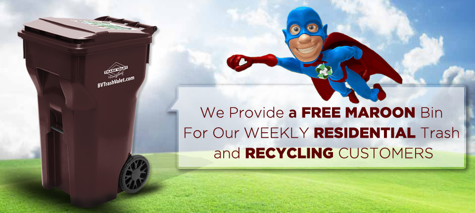 Brazos Valley Trash Valet Recycling Services Banner 6