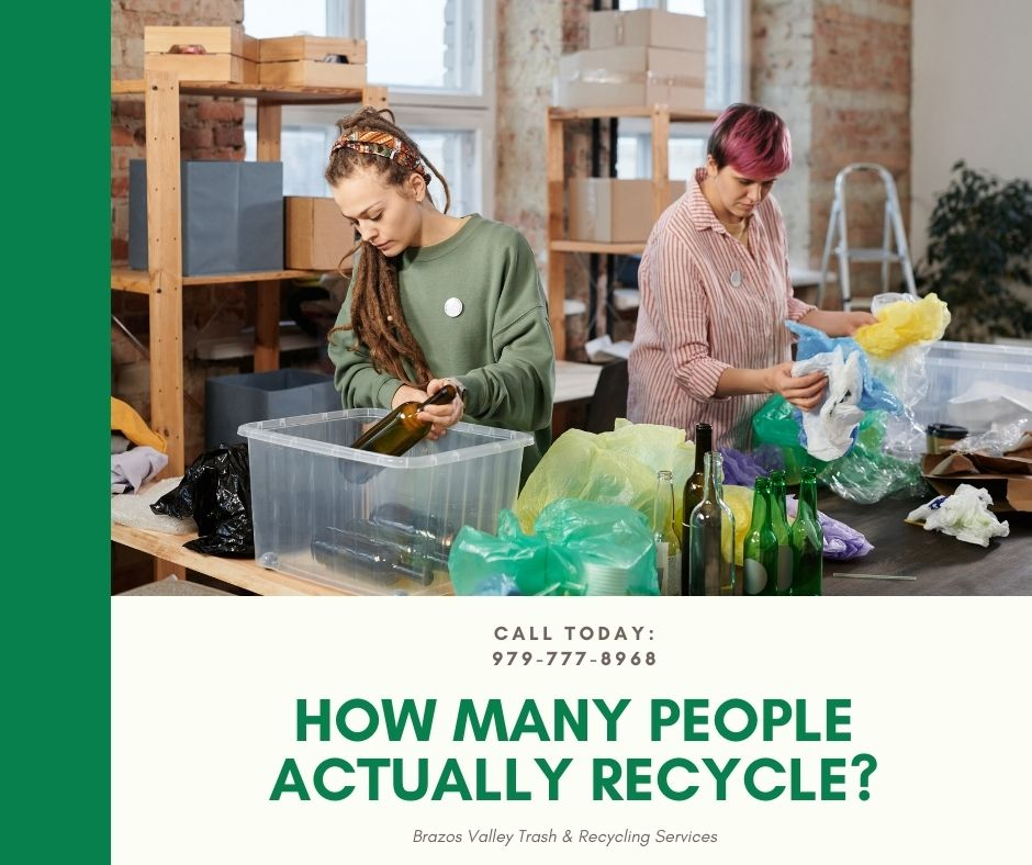How many people actually recycle